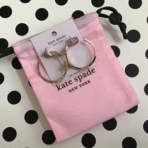 kate spade Jewelry - Kate Spade Hoops Gleaming Gardenia with Dust bag!